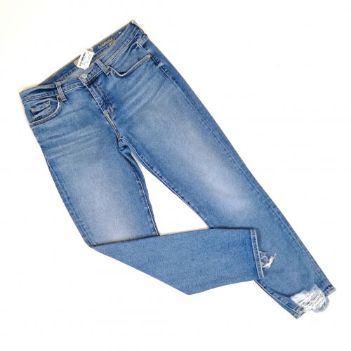 ankle jeans ruffles